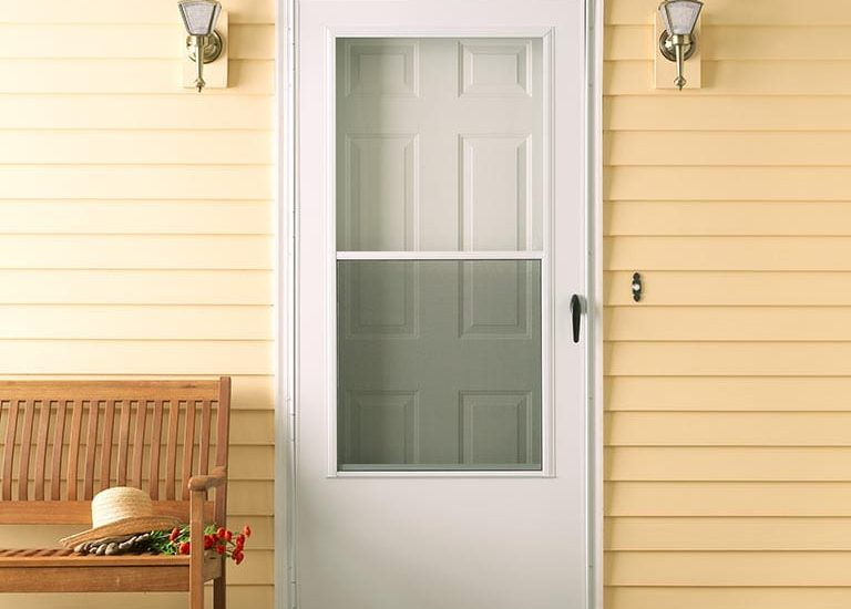 How to install a storm door on a mobile home